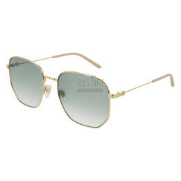Occhiali Gucci GG0396S 002-GOLD-GOLD-GREEN 56 18