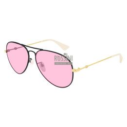 Occhiali Gucci GG0515S 004-BLACK-GOLD-PINK 60/14/145